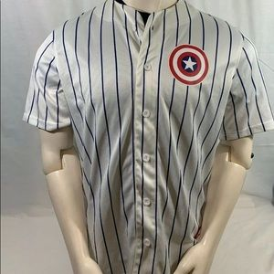 Marvel Captain America Pinstripe Baseball Jersey